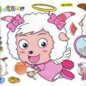 radiant lamb stickers (JDC230)